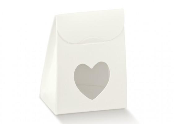Gaveæske hvid m/hjerte