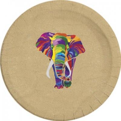 Elefant Paptallerkner - komposterbare