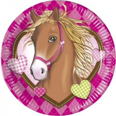 Heste Paptallerkener