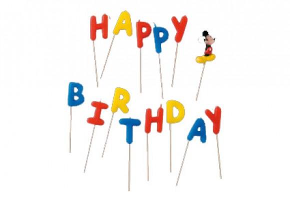 Mickey Mouse Happy Birthday Lys
