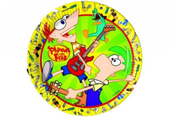Phineas & Ferb Paptallerkner