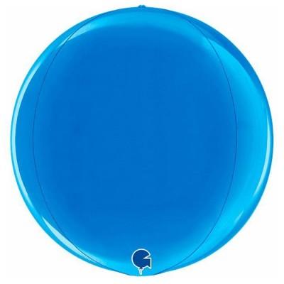 Blå kuglerund orb ballon 38 cm
