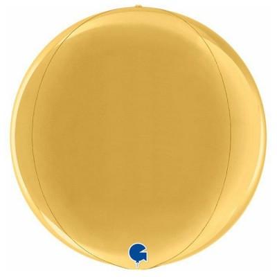 Guld kuglerund orb ballon 38 cm