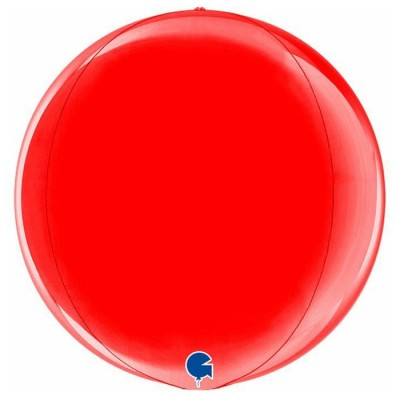 Rød kuglerund orb ballon 38 cm