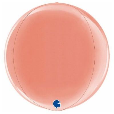Rose gold kuglerund orb ballon 38 cm
