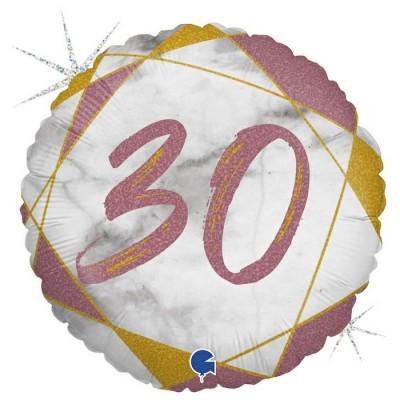 30 år Marmor rose gold