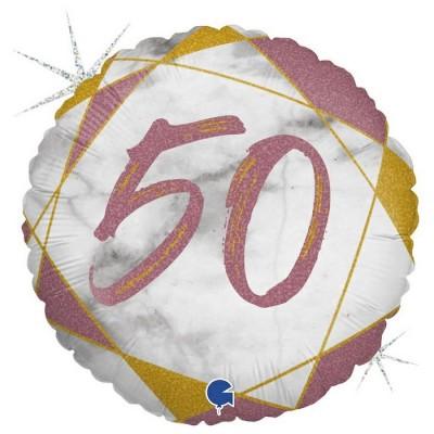 50 år Marmor rose gold