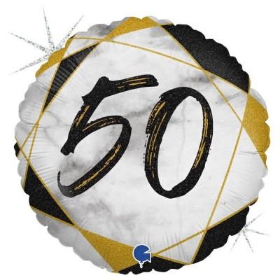 50 år Marmor sort