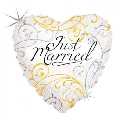 Just Married Filigree