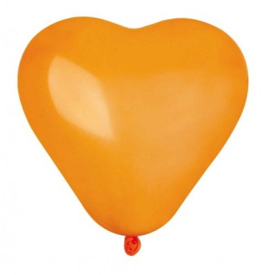 Mini hjerteballon orange 16 cm