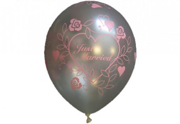 Balloner med Just Married motiv