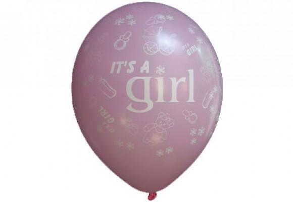 Balloner med It's a girl motiv