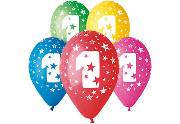 Balloner med 1 år motiv