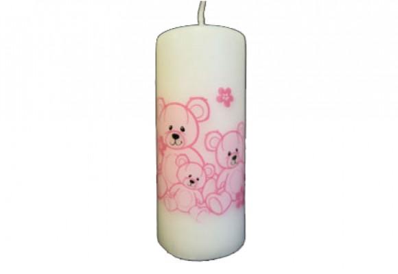 Bloklys bamser rosa