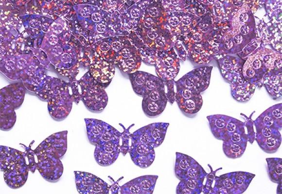 Konfetti sommerfugl lavendel