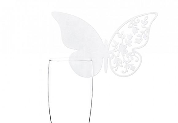 Glaskort Sommerfugl Blomst