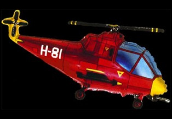 253 Helicopter Rød