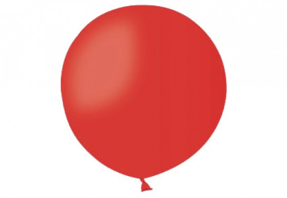 Stor ballon rød 17