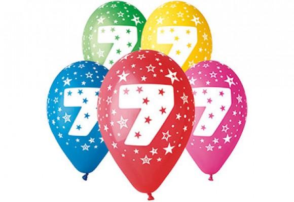 Balloner med 7 år motiv