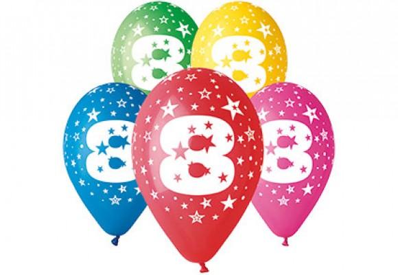 Balloner med 8 år motiv