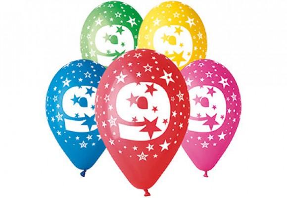 Balloner med 9 år motiv