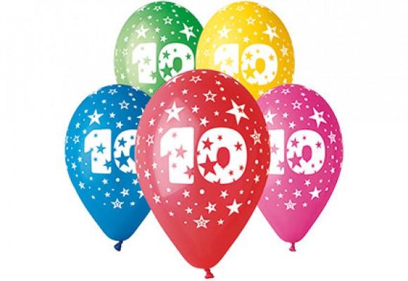 Balloner med 10 år motiv