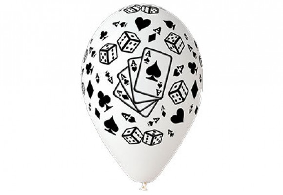 Poker hvid ballon