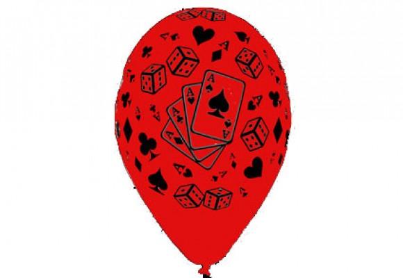 Poker rød ballon