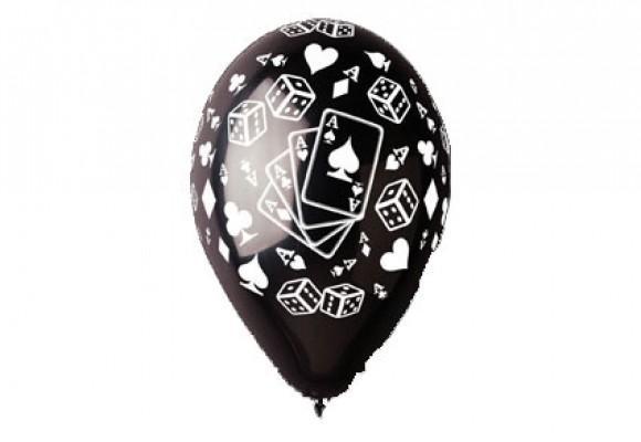 Poker sort ballon