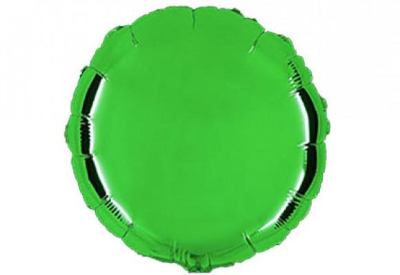 Æblegrøn sølvfolieballon - rund 18