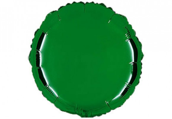Mørkegrøn sølvfolieballon - rund 18