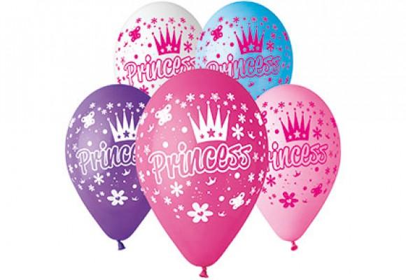 Balloner med Prinsesse krone - NYHED