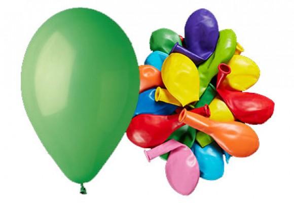 Ballon 26 cm - blandede standard farver