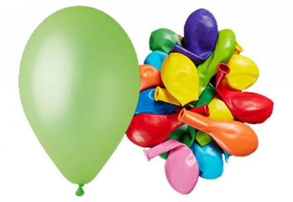 Ballon 26 cm - blandede neon farver