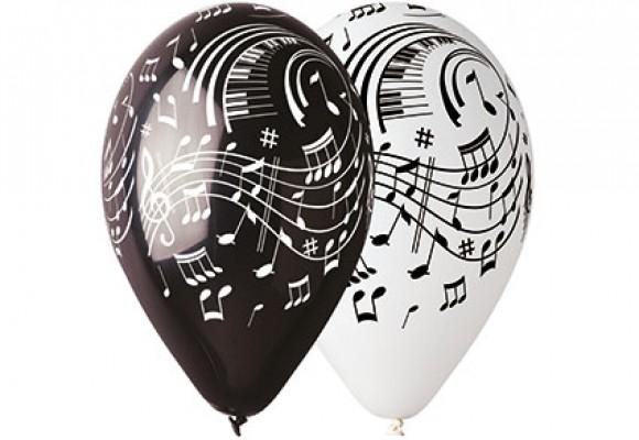 Noder hvid eller sort ballon