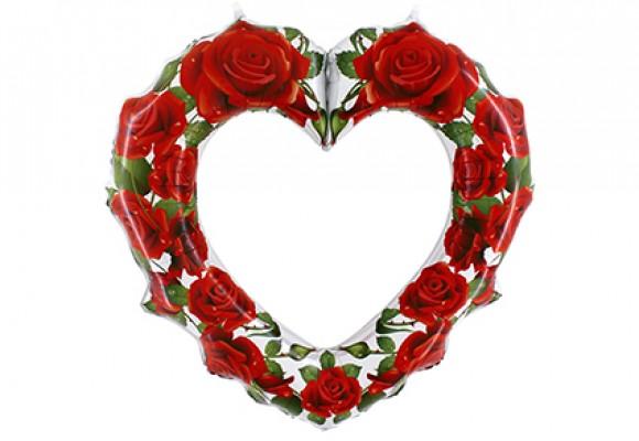 Hjerte røde roser