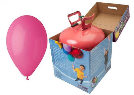 Helium kit inkl. 50 stk. fuchsia 10