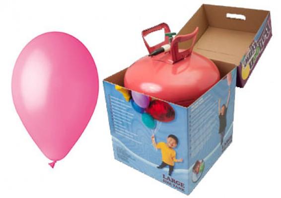 Helium kit inkl. 50 stk. lyserøde 10