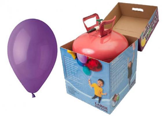 Helium kit inkl. 50 stk. lilla 10