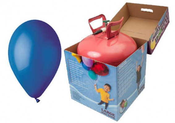 Helium kit inkl. 30 stk. mørkeblå 10