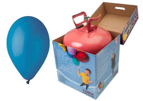 Helium kit inkl. 50 stk. blå 10