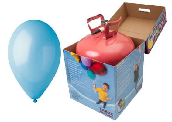 Helium kit inkl. 50 stk. lyseblå 10