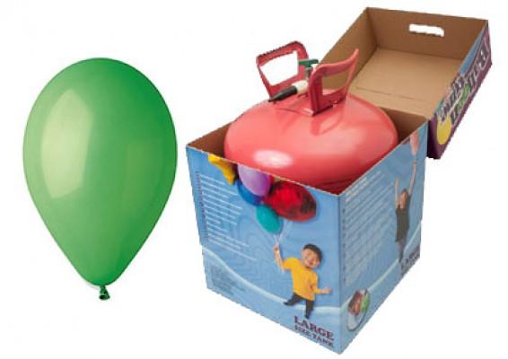 Helium kit inkl. 50 stk. grønne 10