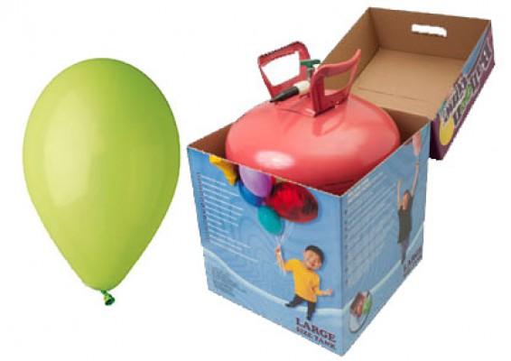 Helium kit inkl. 50 stk. limegrønne 10