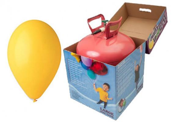 Helium kit inkl. 50 stk. gule 10
