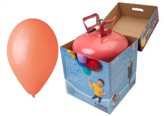 Helium kit inkl. 50 stk. orange 10