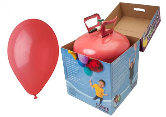 Helium kit inkl. 50 stk. røde 10