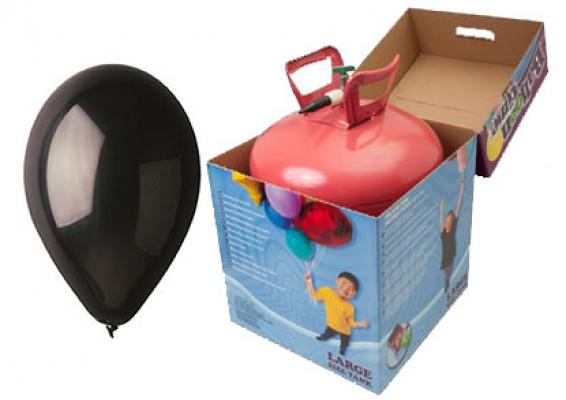 Helium kit inkl. 50 stk. sorte 10