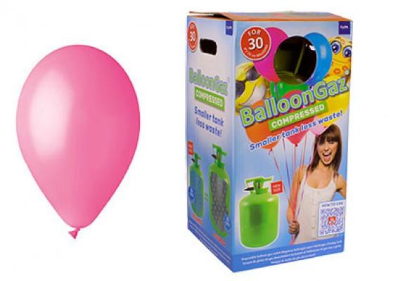 Helium kit inkl. 30 stk. lyserøde 10