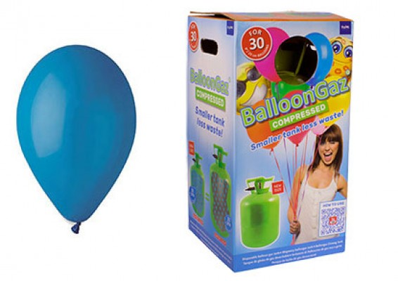 Helium kit inkl. 30 stk. blå 10